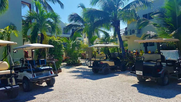 Tres Cocos Resort San Pedro Belize Golf Cart Rental
